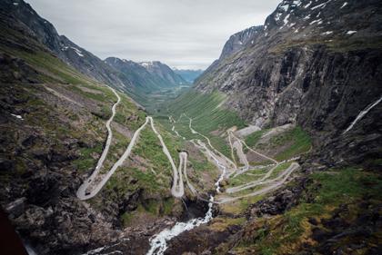 Karta Over Trollstigen Norge Satellitkarta Se